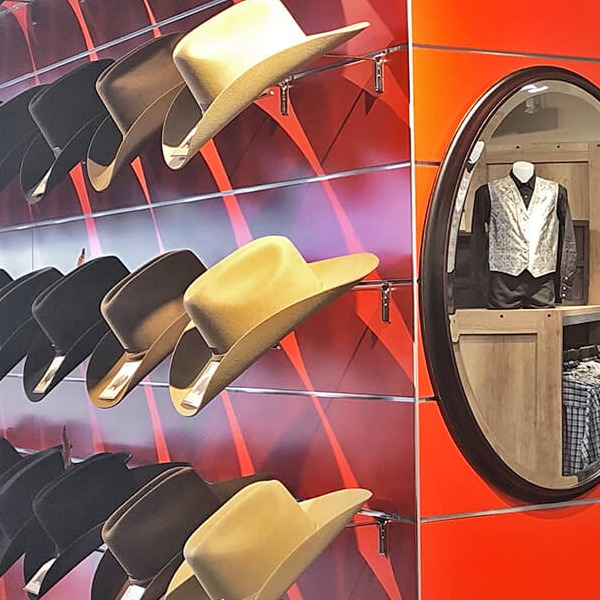 Custom retail displays for western wear create the right atmosphere and attract attention.