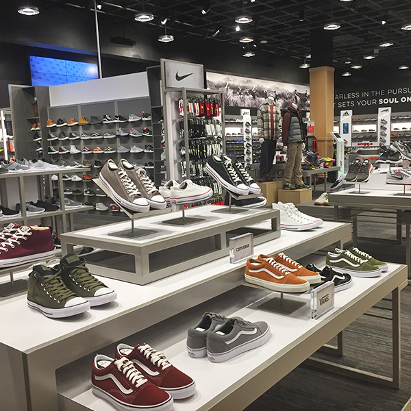 Scheel's shoe department as designed and manufactured by C-West Custom Fixtures
