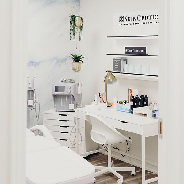 SkinCeutical's custom retail display designed, manufactured and installed in medical clinics by C-West Custom Fixtures.