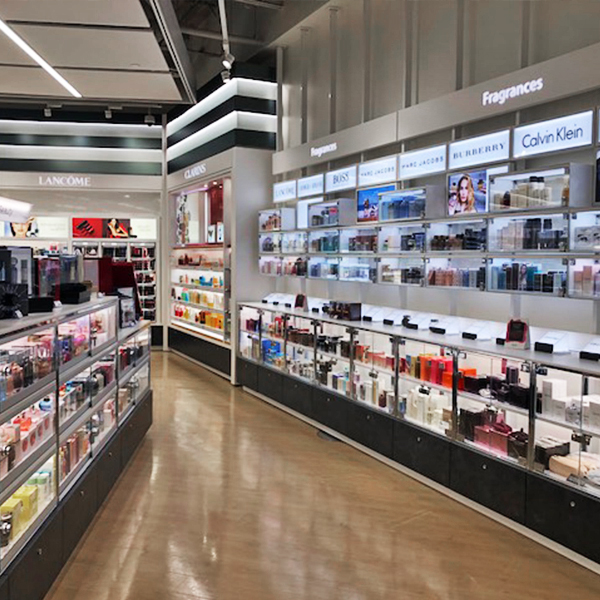 London Drug's cosmetic display - designed, manufactured and installed by C-West Custom Fixtures
